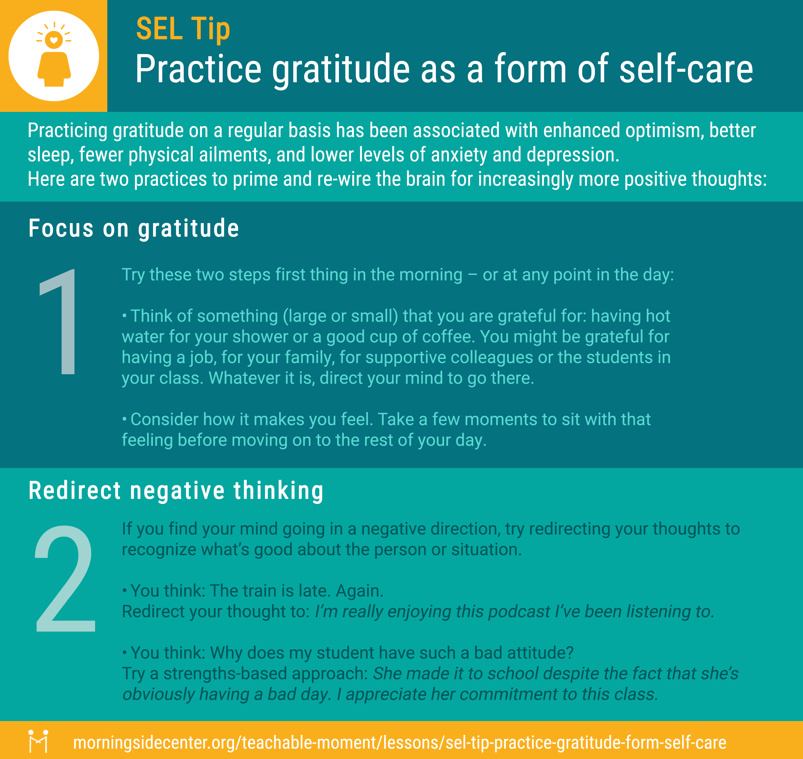 Gratitude for self-care graphic