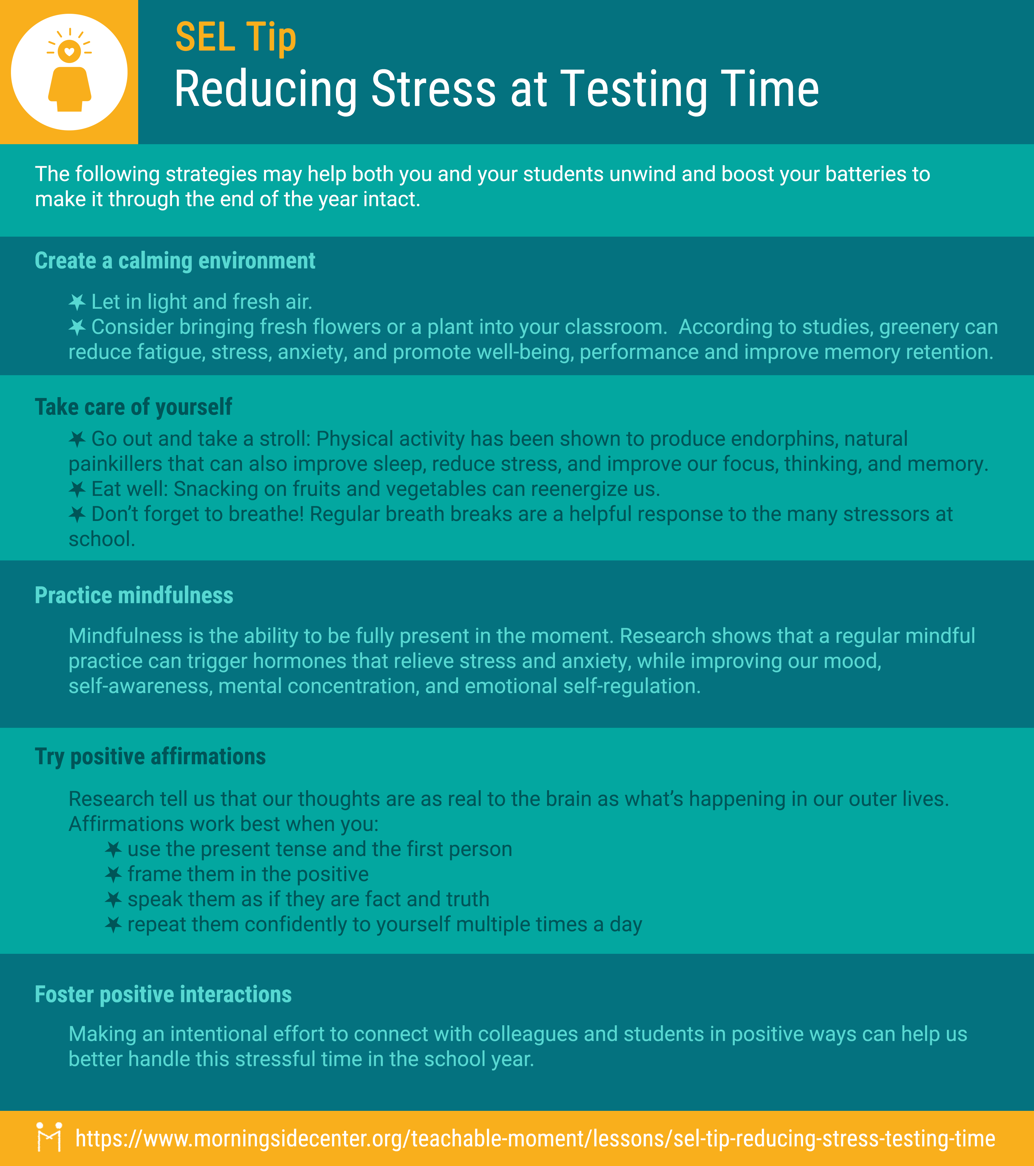 Reducing Stress Graphic