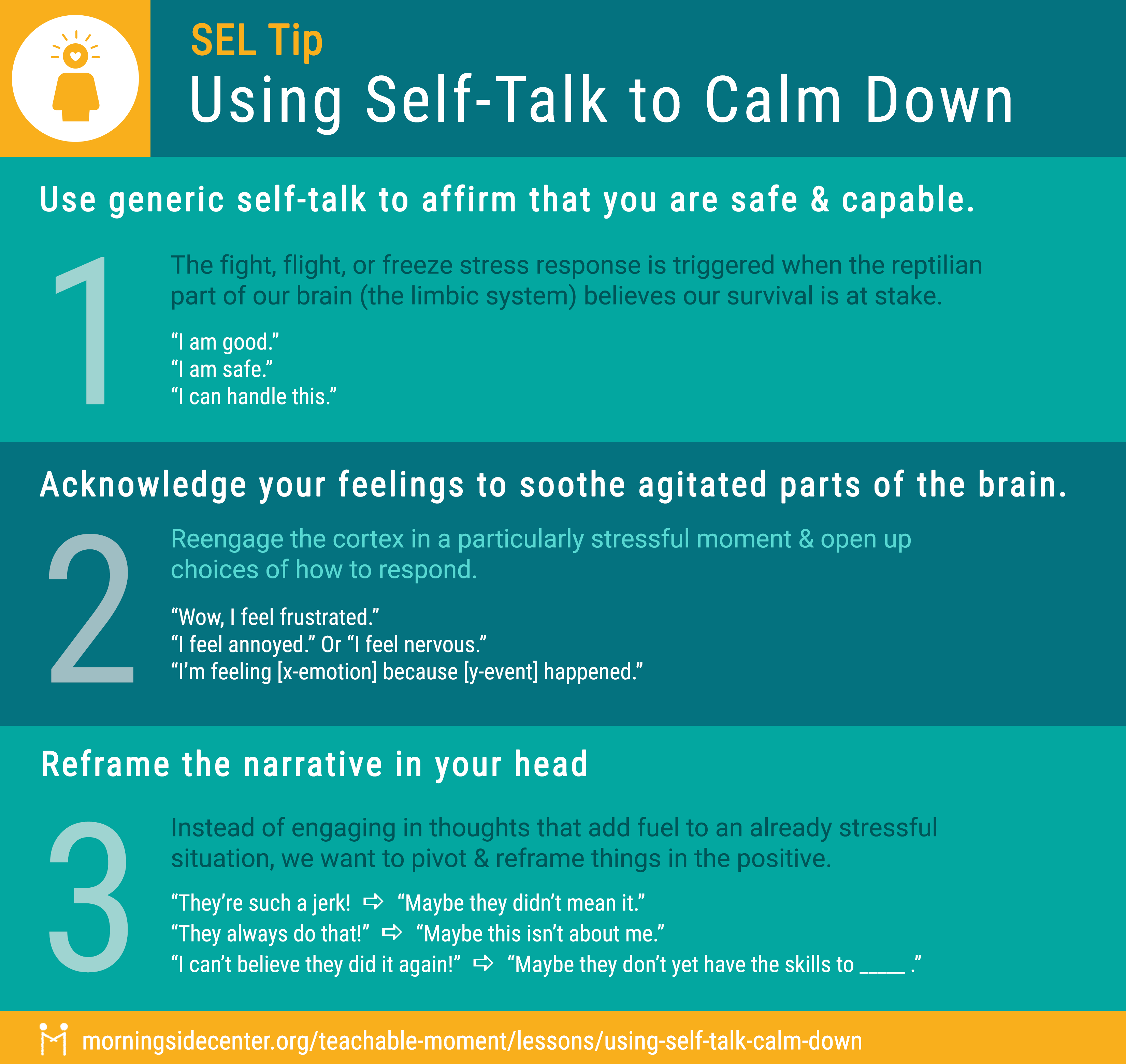 Using Self Talk to Calm Down Graphic